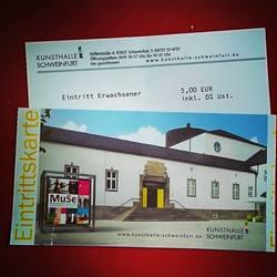 Eintrittskarte Kunsthalle Schweinfurt expressiver Realismus