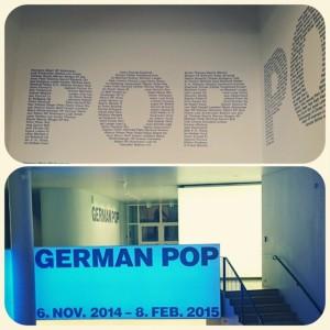 German Pop - Ausstellung in der Schirn in Frankfurt Eingangsbereich