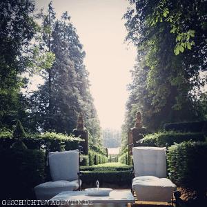 Jardin Eyrignac Schattenplatz mit Sichtachse