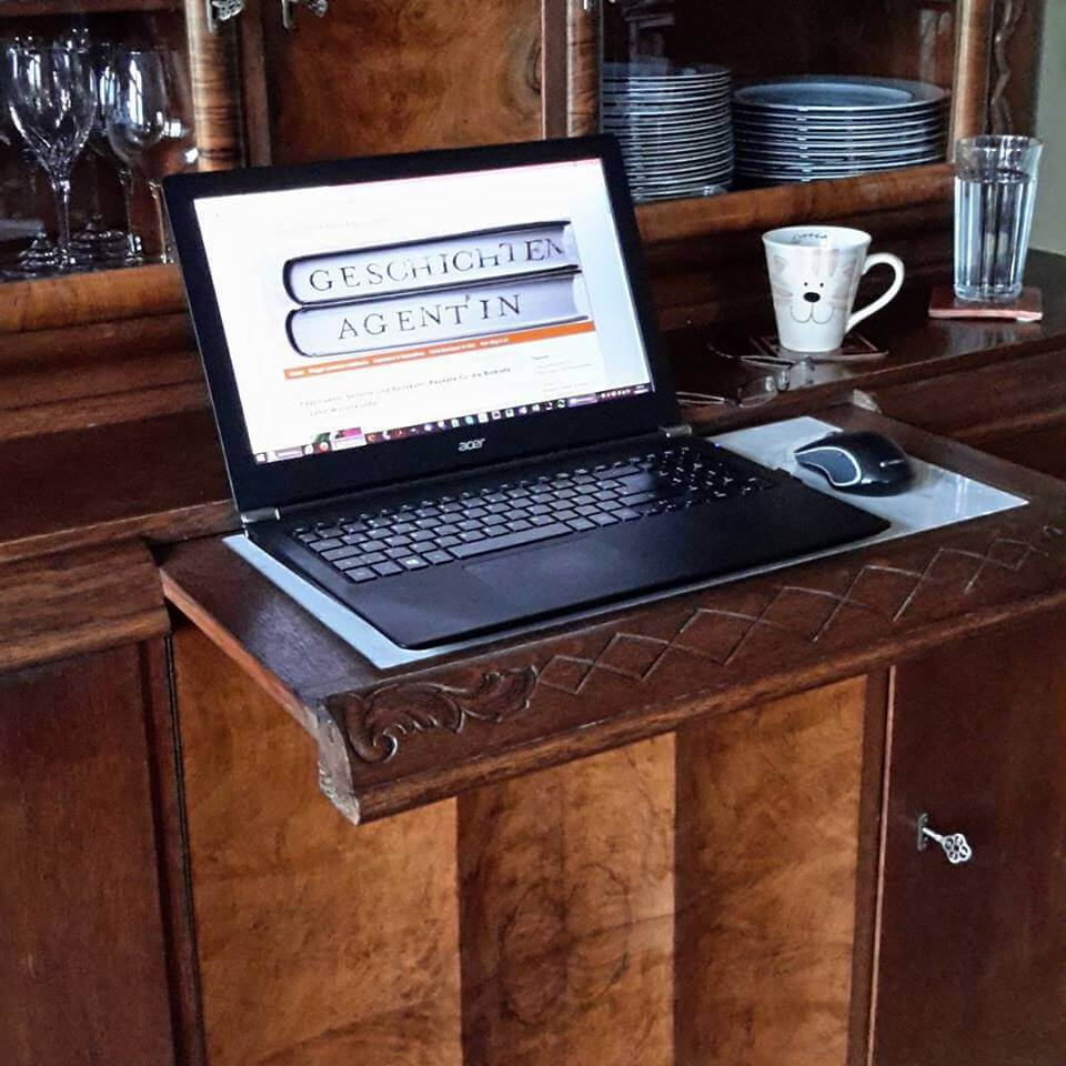 Hier entsteht die GeschichtenAgentin - Blog Arbeitsplatz