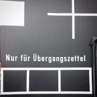 Schild Übergangszettel Historische Eisenbahn Mannheim Museum und Verein