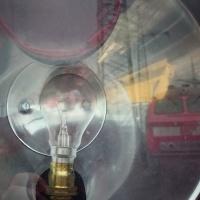 Spiegelung Lampe Historische Eisenbahn Mannheim Museum und Verein