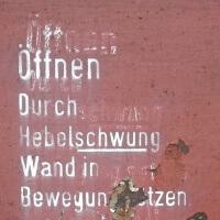 Wand in Bewegung setzen Schild Historische Eisenbahn Mannheim Museum und Verein