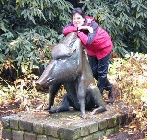 Wildschwein Luisenpark Mannheim Skulptur