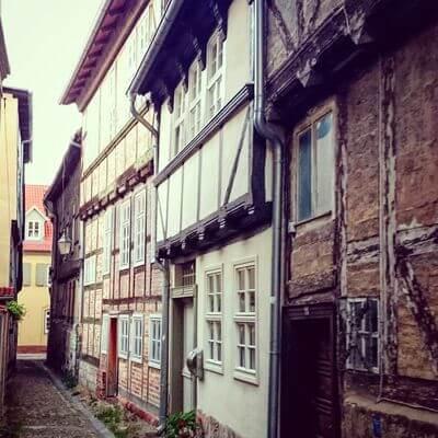 Gasse in Quedlinburg