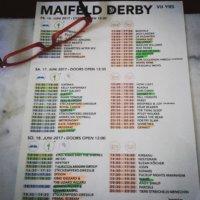 Plan für das Maifeld Derby