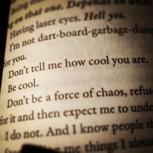Zitat von Lee Hollis: Don't tell me how cool you are. Be cool.