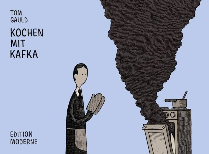 Kochen mit Kafka. von Tom Gauld. Cartoons für Booknerds, Leser, Autoren, Buchmenschen, Leser.